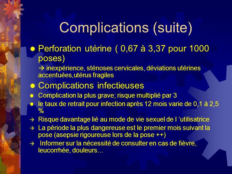 Complications (suite)