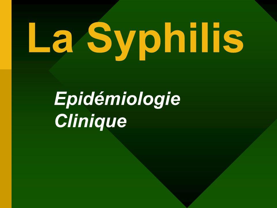 La Syphilis Epidémiologie Clinique