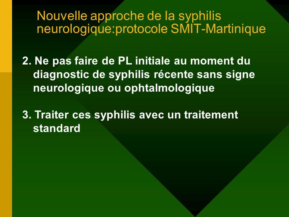 Nouvelle approche de la syphilis neurologique:protocole SMIT-Martinique
