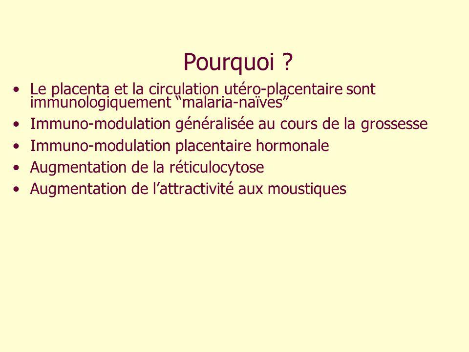 Pourquoi Le placenta et la circulation utéro-placentaire sont immunologiquement malaria-naïves