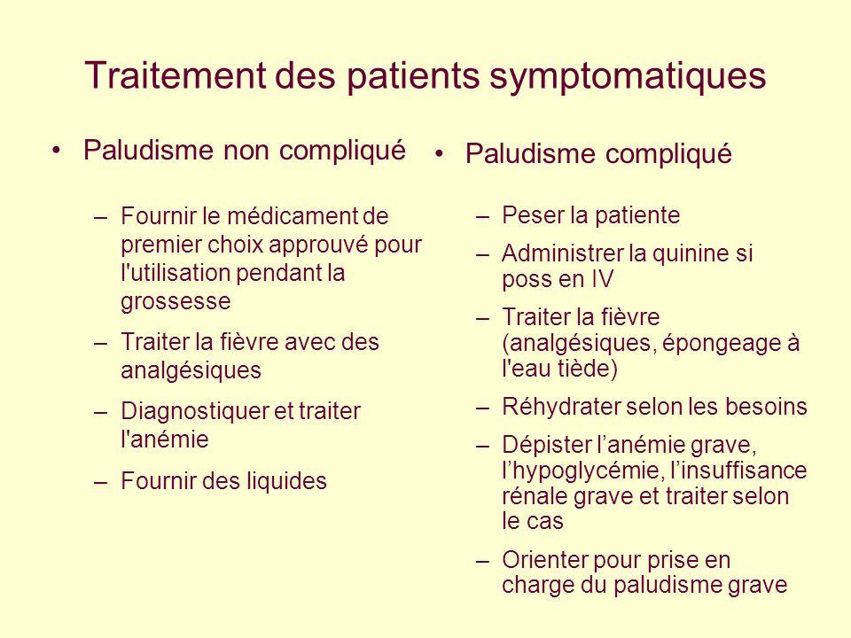 Traitement des patients symptomatiques