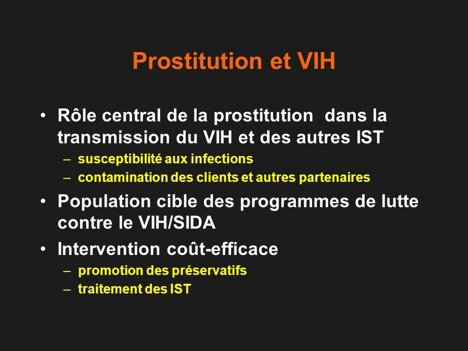 Prostitution et VIH Rôle central de la prostitution dans la transmission du VIH et des autres IST.