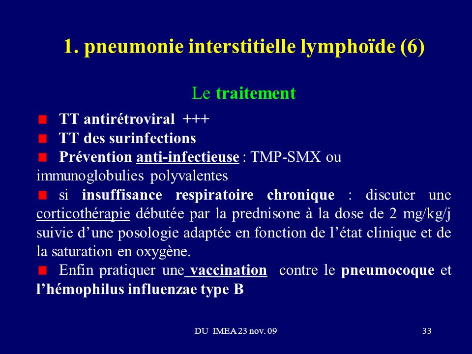 1. pneumonie interstitielle lymphoïde (6)