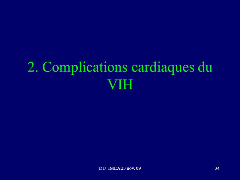 2. Complications cardiaques du VIH
