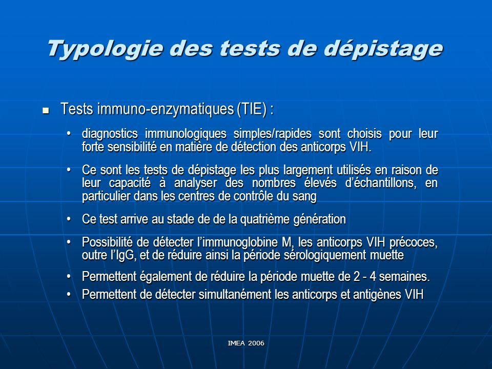 Typologie des tests de dépistage