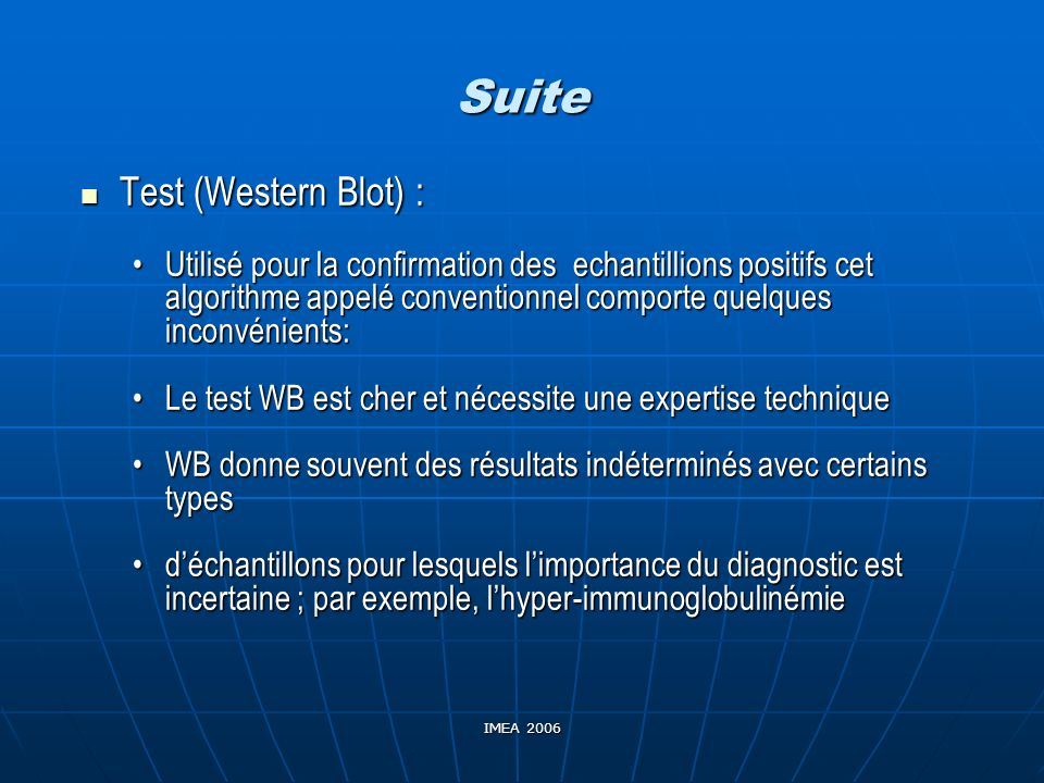Suite Test (Western Blot) :