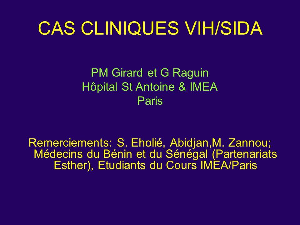 CAS CLINIQUES VIH/SIDA