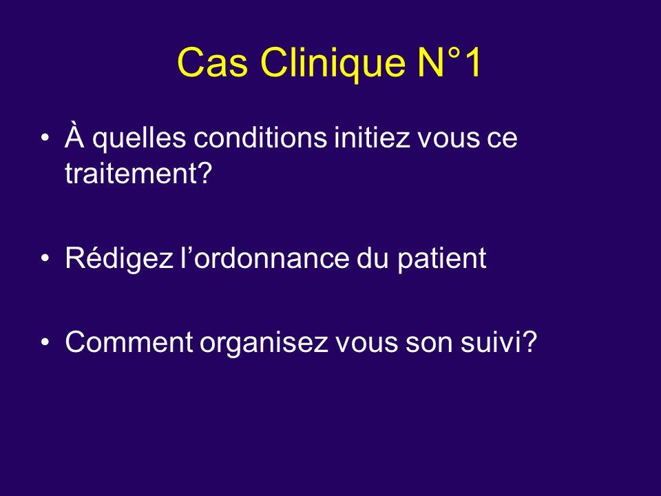 Cas Clinique N°1 À quelles conditions initiez vous ce traitement