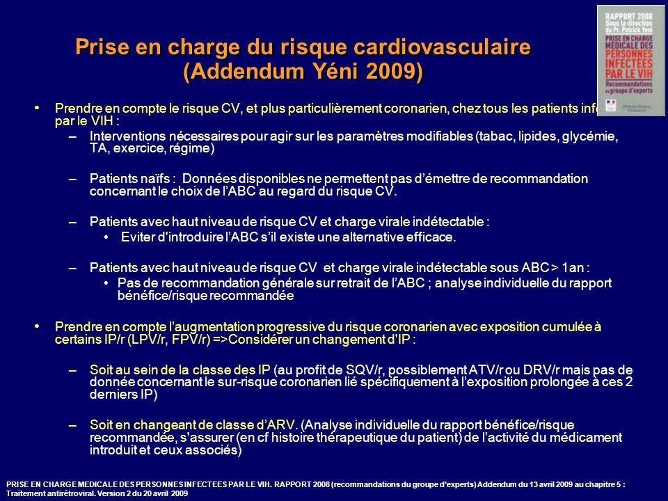 Prise en charge du risque cardiovasculaire (Addendum Yéni 2009)