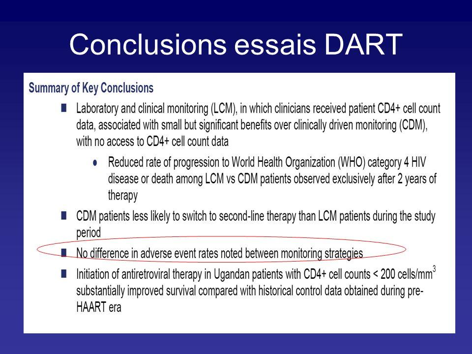 Conclusions essais DART