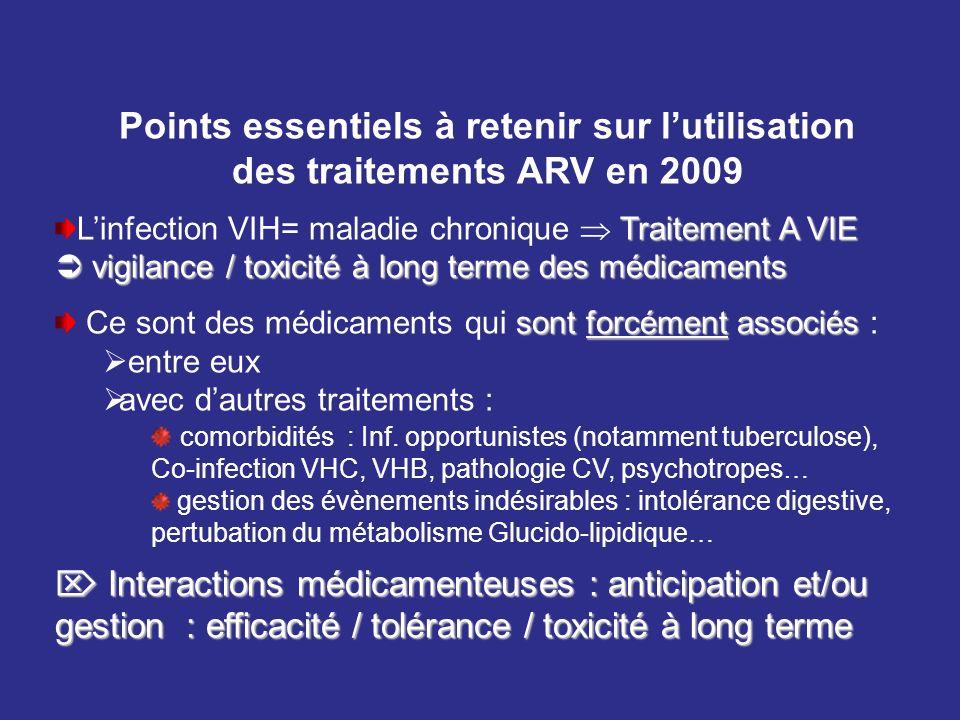 Points essentiels à retenir sur l'utilisation des traitements ARV en 2009