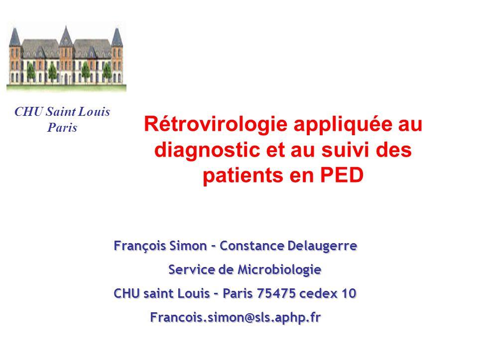 Rétrovirologie appliquée au diagnostic et au suivi des patients en PED
