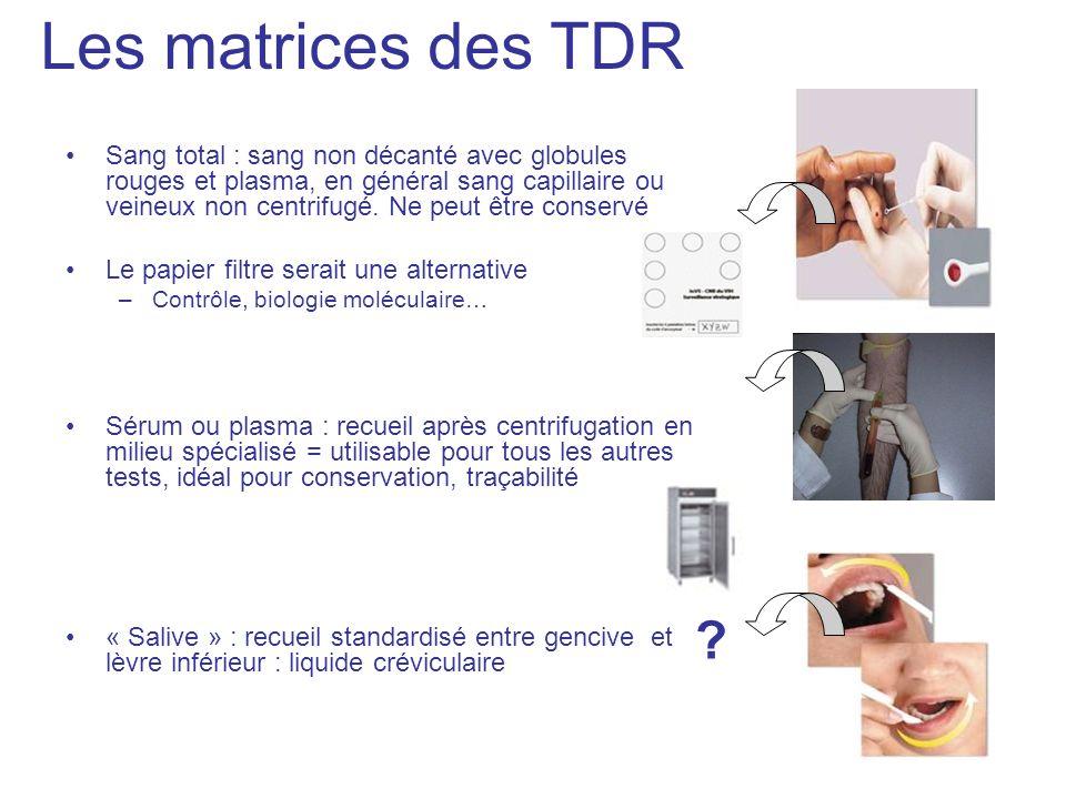 Les matrices des TDR