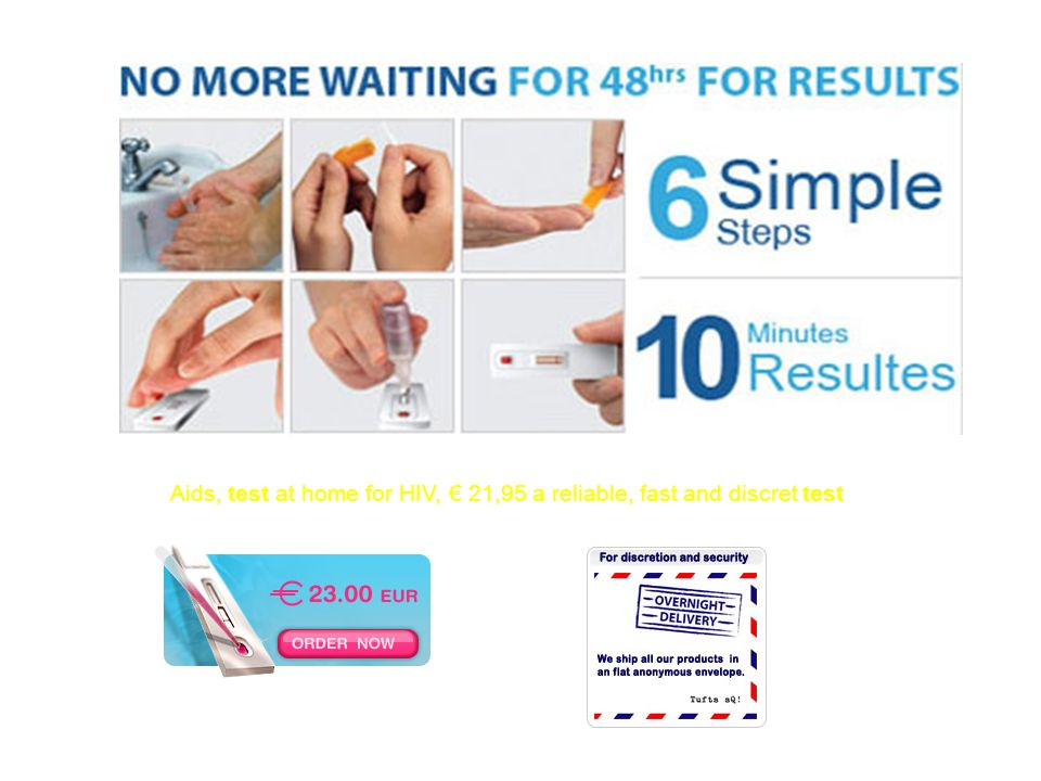 Aids, test at home for HIV, € 21,95 a reliable, fast and discret test