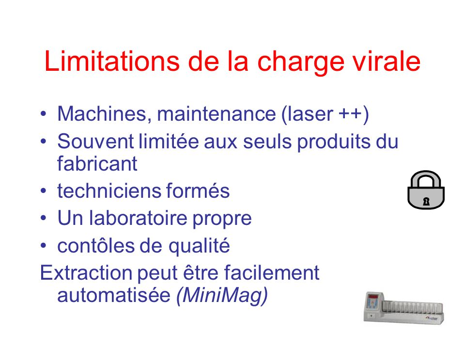 Limitations de la charge virale
