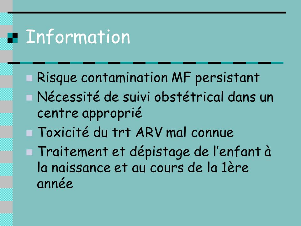 Information Risque contamination MF persistant