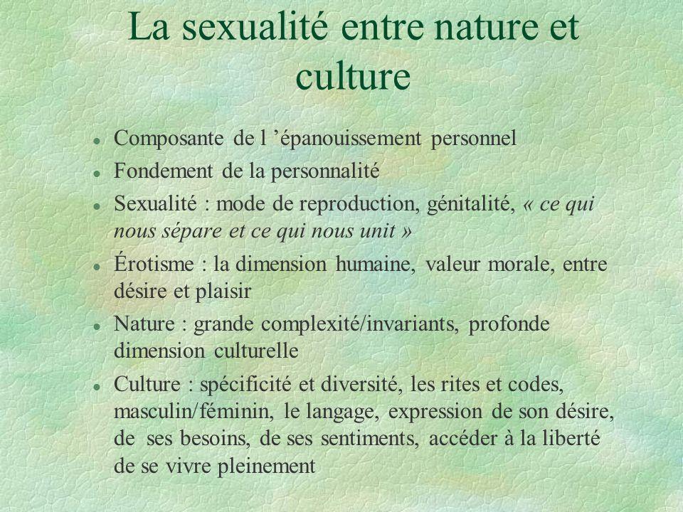 La sexualité entre nature et culture