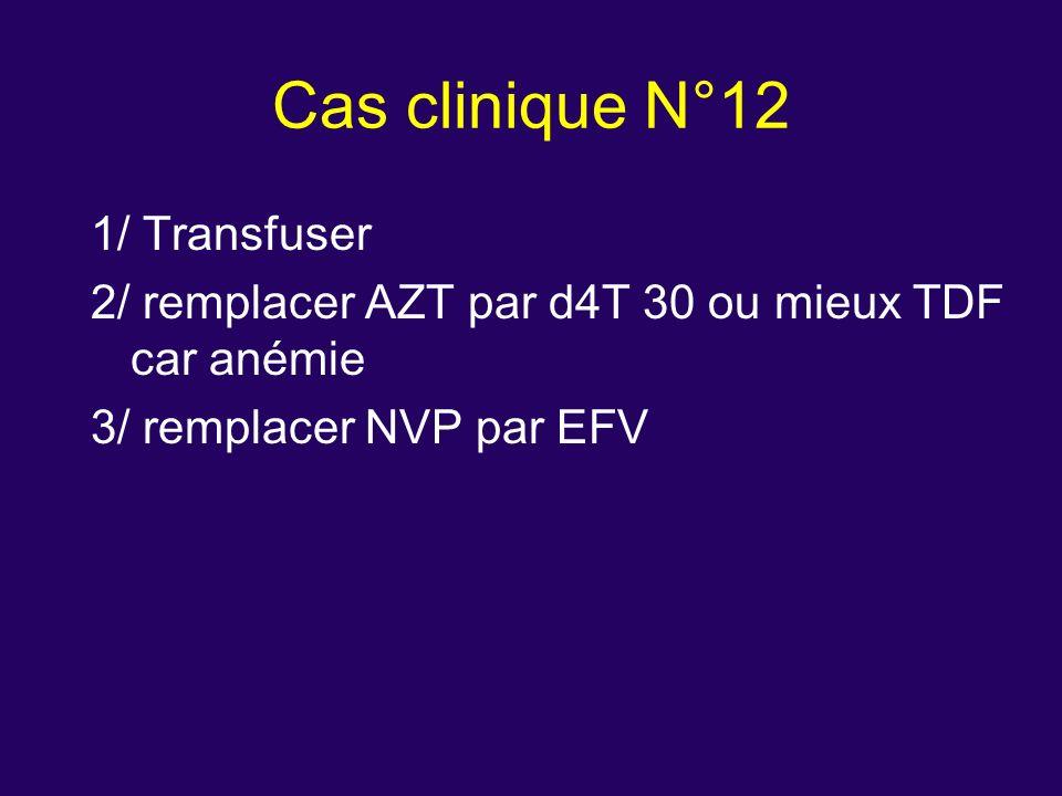 Cas clinique N°12 1/ Transfuser