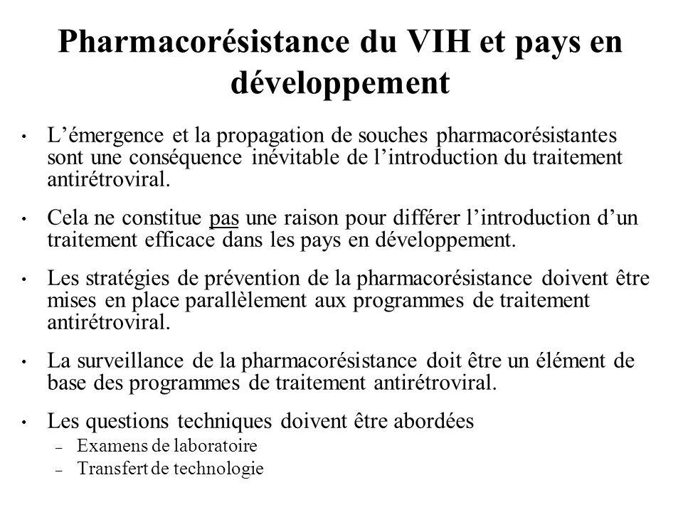 Pharmacorésistance du VIH et pays en développement