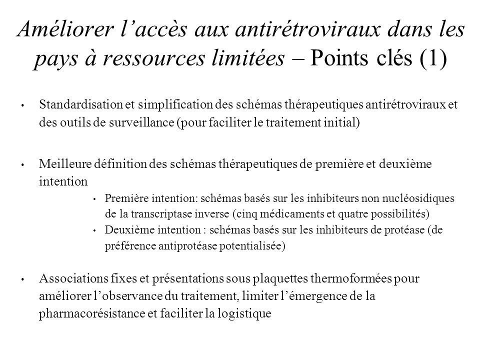 Améliorer l'accès aux antirétroviraux dans les pays à ressources limitées – Points clés (1)