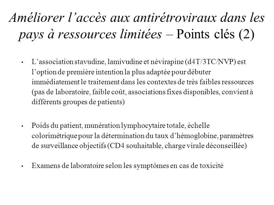 Améliorer l'accès aux antirétroviraux dans les pays à ressources limitées – Points clés (2)