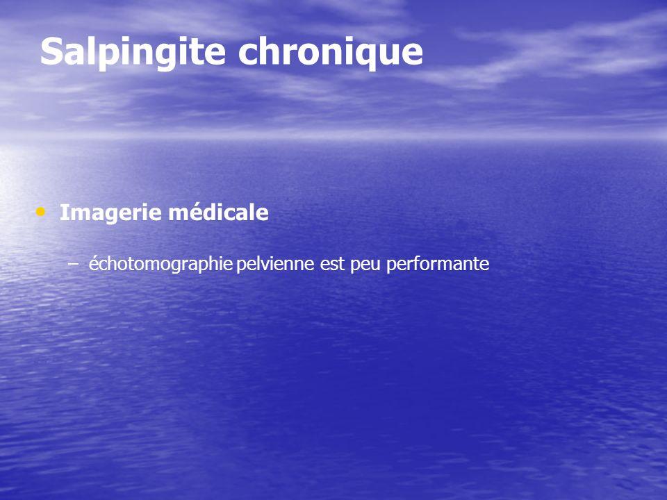 Salpingite chronique Imagerie médicale