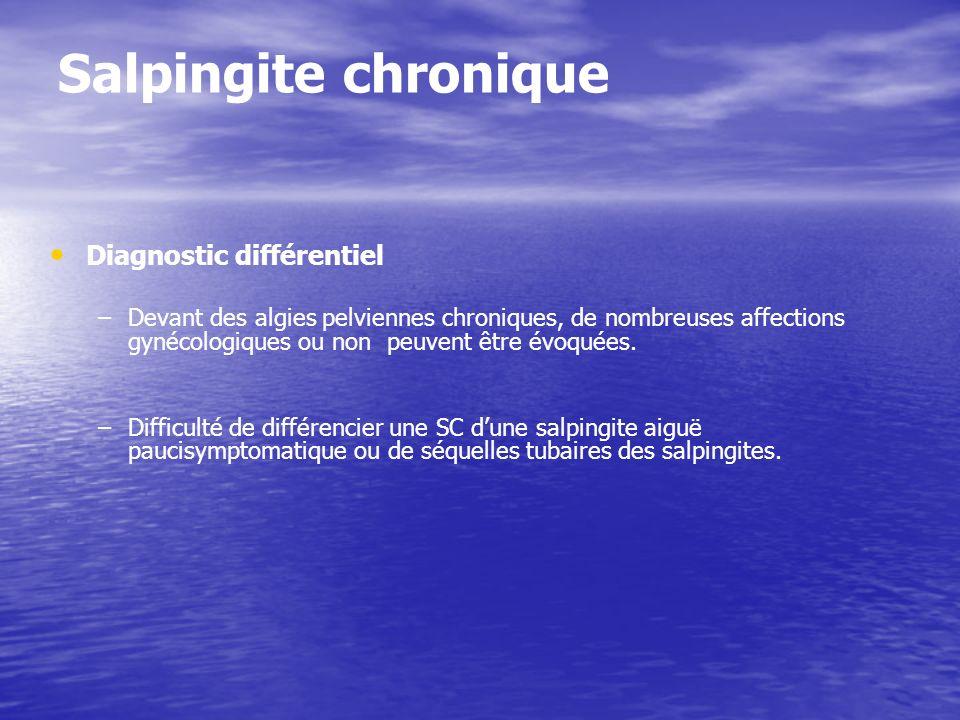 Salpingite chronique Diagnostic différentiel