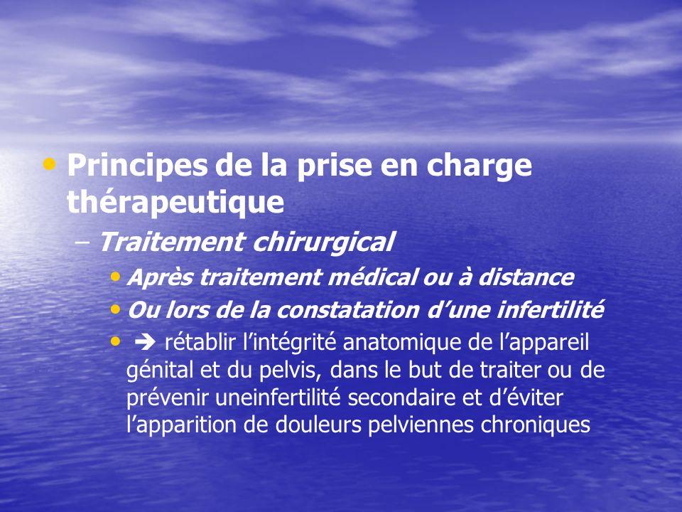Principes de la prise en charge thérapeutique