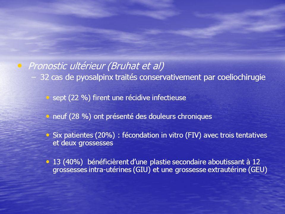Pronostic ultérieur (Bruhat et al)