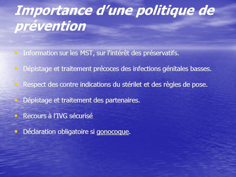Importance d'une politique de prévention