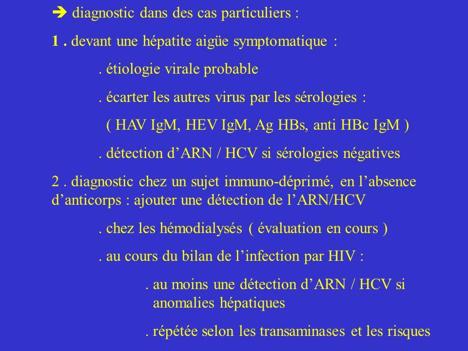 diagnostic dans des cas particuliers :