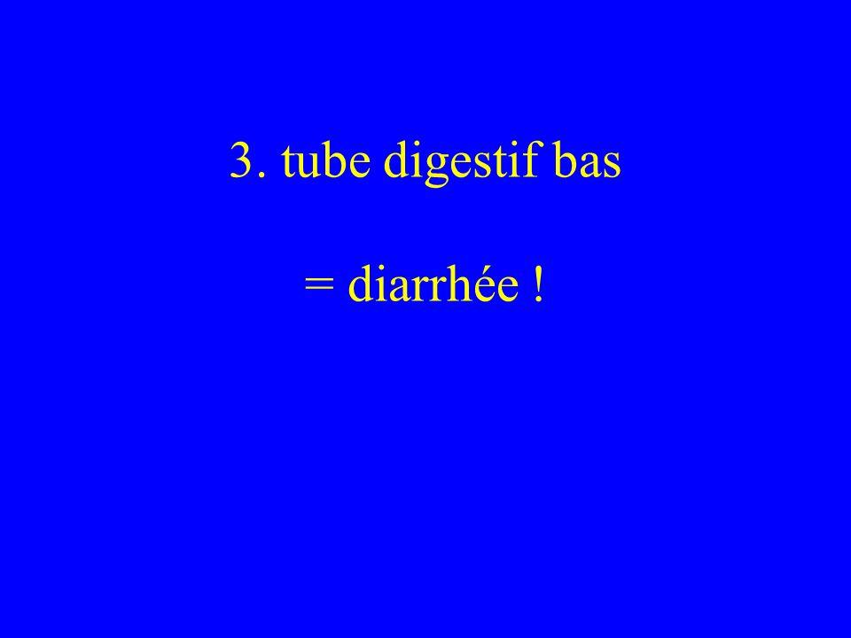 3. tube digestif bas = diarrhée !