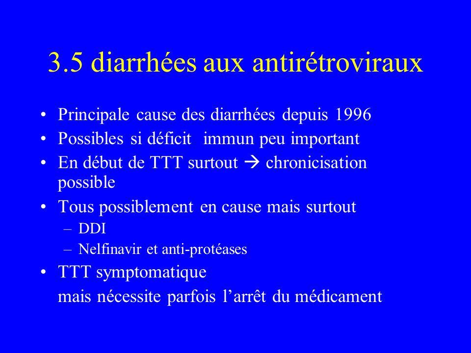 3.5 diarrhées aux antirétroviraux