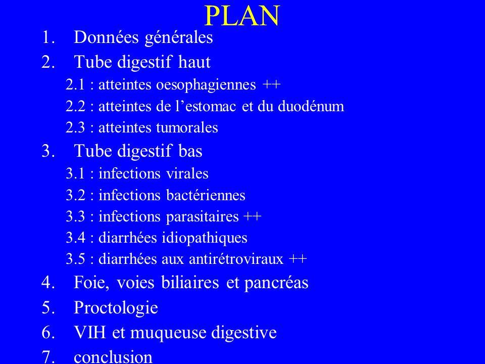 PLAN Données générales Tube digestif haut Tube digestif bas