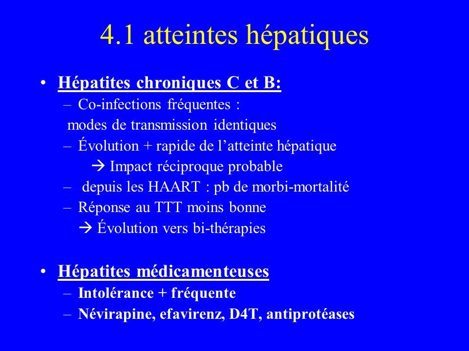 4.1 atteintes hépatiques Hépatites chroniques C et B: