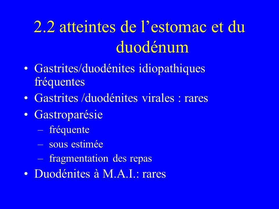 2.2 atteintes de l'estomac et du duodénum