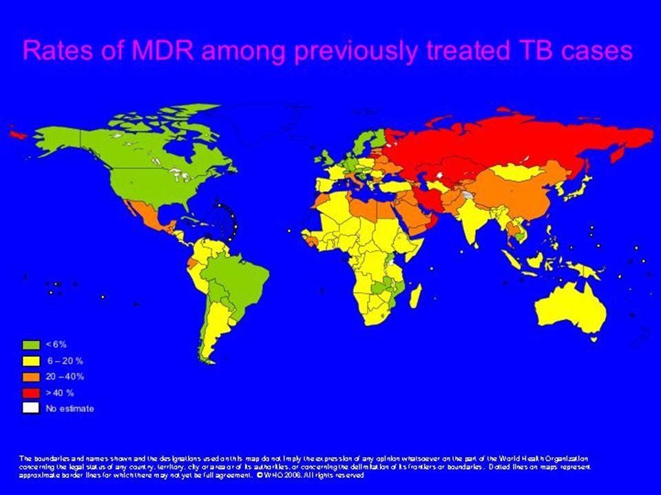 La MDR acquise, c'est à dire, parmi les patients déjà traités avec les antiTB plus d'un mois.