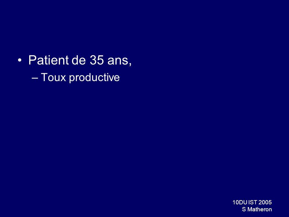 Patient de 35 ans, Toux productive