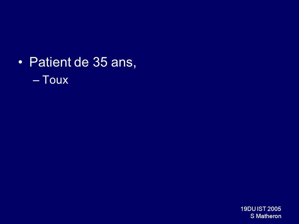 Patient de 35 ans, Toux