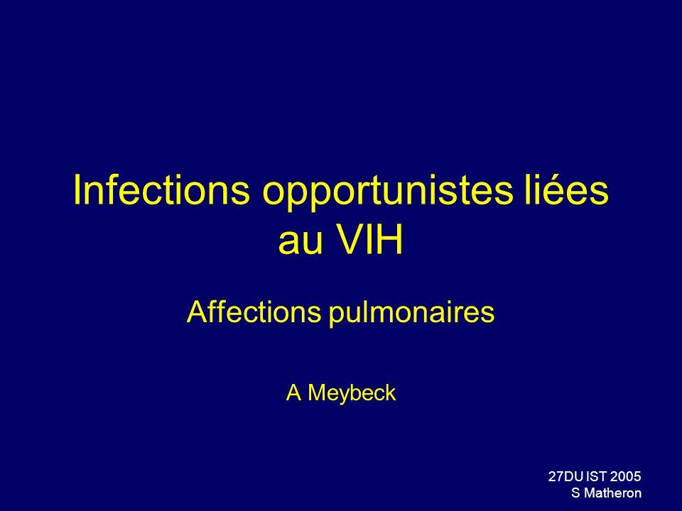 Infections opportunistes liées au VIH