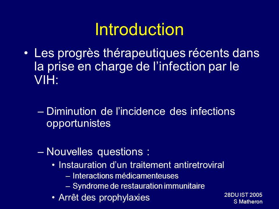 Introduction Les progrès thérapeutiques récents dans la prise en charge de l'infection par le VIH: