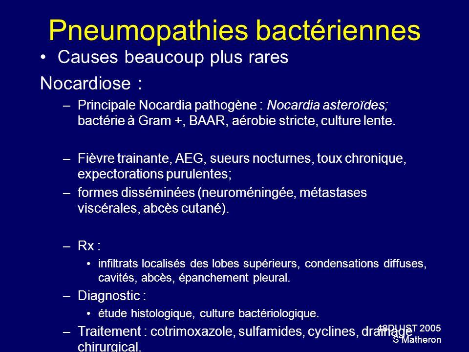 Pneumopathies bactériennes