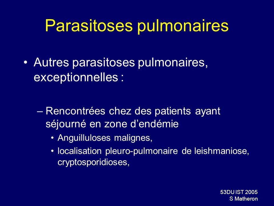 Parasitoses pulmonaires
