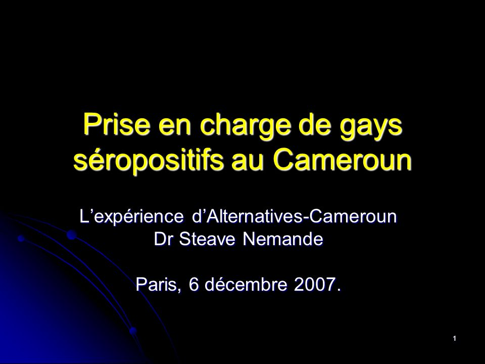 Prise en charge de gays séropositifs au Cameroun
