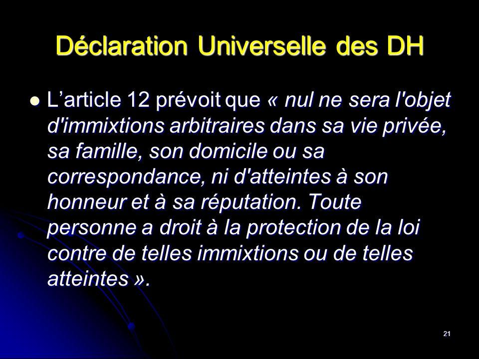 Déclaration Universelle des DH