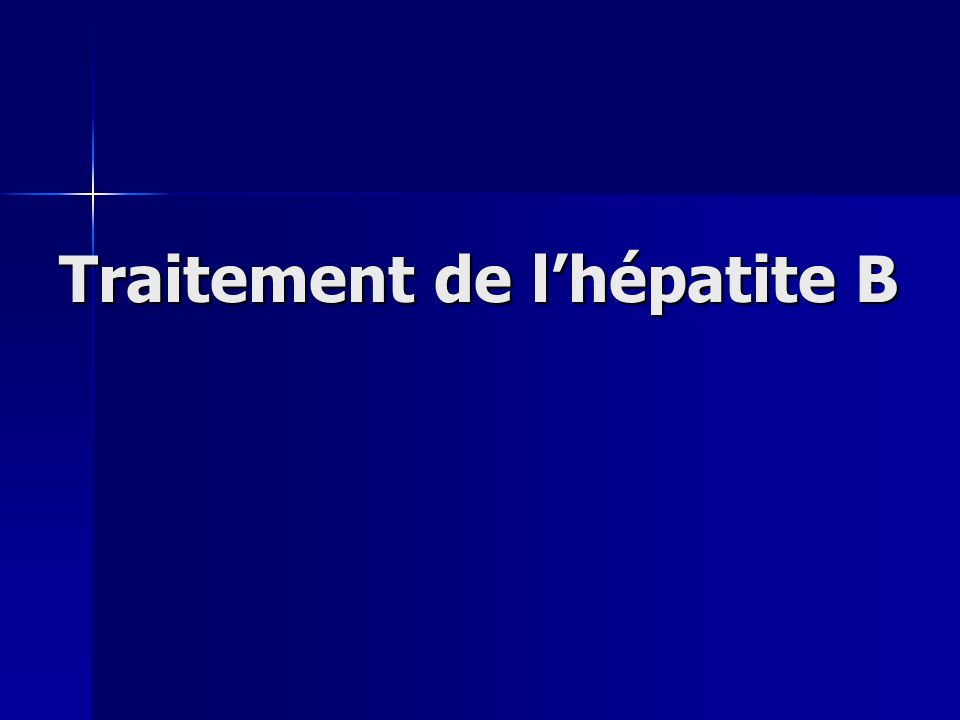 Traitement de l'hépatite B