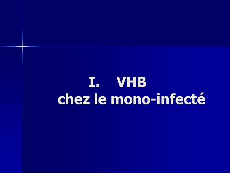 VHB chez le mono-infecté
