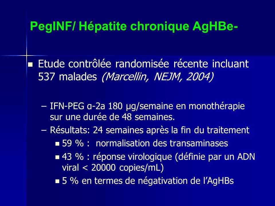 PegINF/ Hépatite chronique AgHBe-