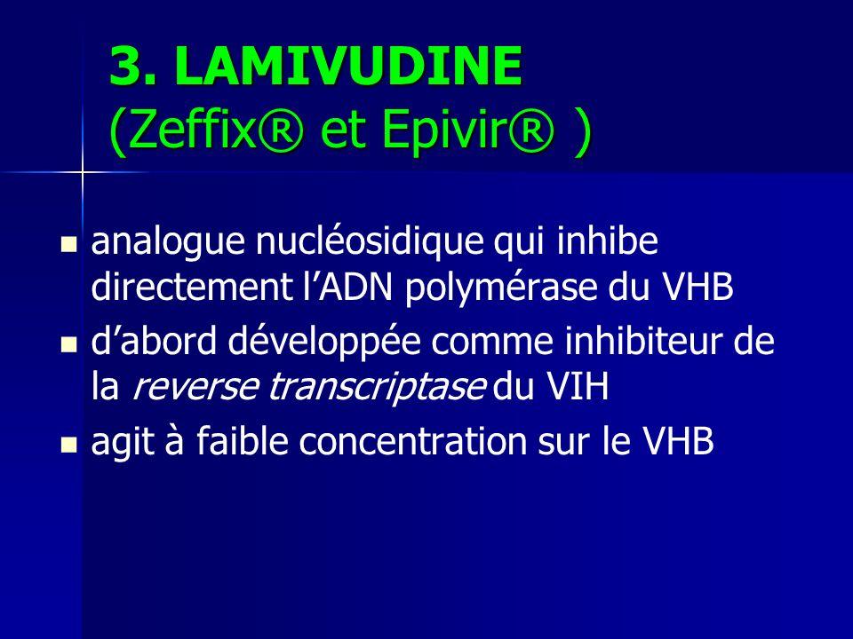 3. LAMIVUDINE (Zeffix® et Epivir® )