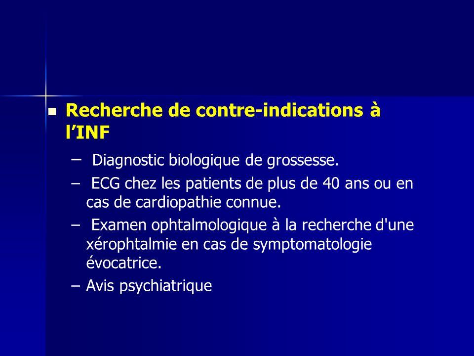 Recherche de contre-indications à l'INF